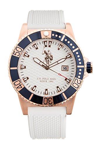 US Polo Association Reloj Analógico para Hombre de Cuarzo con Correa en Cuero USP4393RG