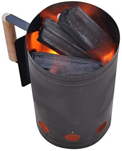 LJYY Encendedor de carbón para Chimenea, Accesorios para Barbacoa de Uso doméstico, Encendedor de Encendido, Canasta de Encendedor de Chimenea de Acero galvanizado, para Barbacoa de Camping al