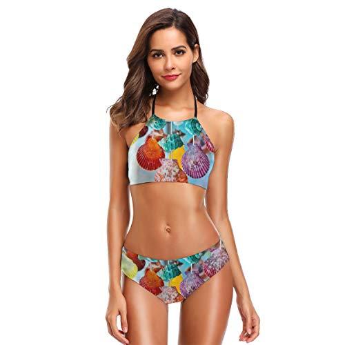 JOJOshop Variety Shells. Bikini Badpak Womens High Neck Halter Twee Stuk Badpak