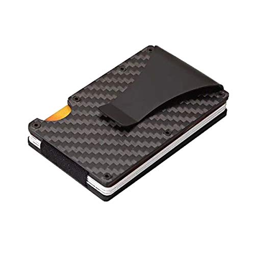 Cartera de Tarjetas Tarjetero Hombre,Slim Moda RFID Billetera de Fibra Carbon, Mini Fundas para Crédito
