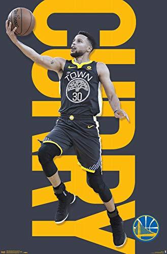 Trends International NBA Golden State Warriors - Stephen Curry 18 Wall Poster, 22.375' x 34', Premium Unframed Version