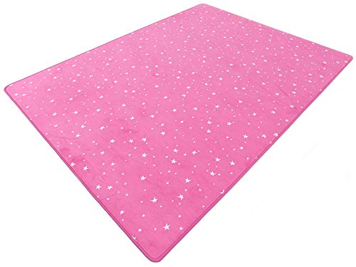 HEVO Vorwerk Bijou Stars pink Teppich | Kinderteppich | Spielteppich 135x200 cm Sonderedition