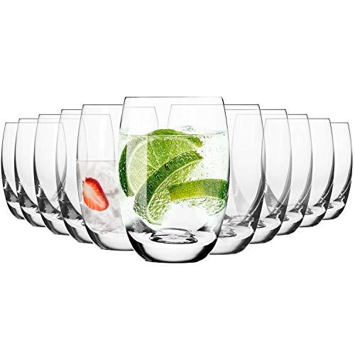 Krosno Wassergläser Saftgläser Trinkgläser | Set von 12 | 360 ML | Elite Kollektion | Perfekt für zu Hause, Restaurants und Partys | Spülmaschinenfest und Mikrowellengeeignet