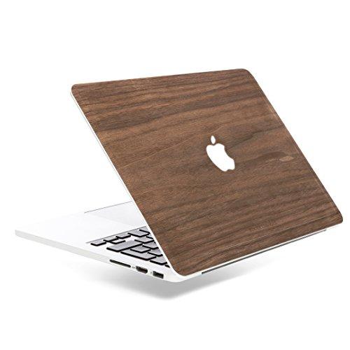 Woodcessories - Skin kompatibel mit MacBook 13 Pro Retina (bis 2016) aus Holz - EcoSkin (Walnuss)