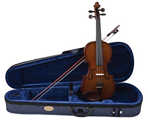 Stentor Student I Violinen-Set 1/32 Größe, Premium Qualität Violine mit Holzbogen, Hartschalenkoffer, Tragegurten und Zubehör (1400J - 1/32 Größe)