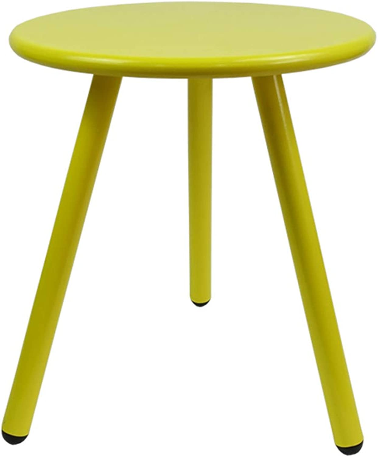 GWDJ Iron Side Table, Round Coffee Table Sofa Side Stable Round Table Balcony Nested Table Suitable for Living Room Bedroom Balcony, 3 colors Corner Table (color   Yellow-Green, Size   40cm-15inch)
