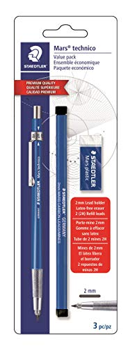 Staedtler Mars Technical Mechanical Pencil Set, 780SBK,Blue