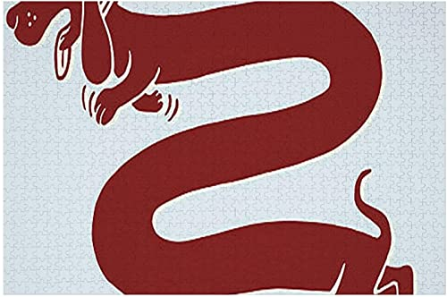 Pezzo di puzzle Cane molto lungo - - Bassotto, Puzzle in legno - Pezzi di puzzle di forma unica Best Gift Dog 500PCS
