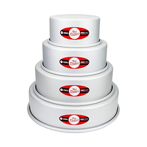 Fat Daddio's Kuchenform, rund, 7,6 cm (6 bis 12 Zoll), 4 Stück
