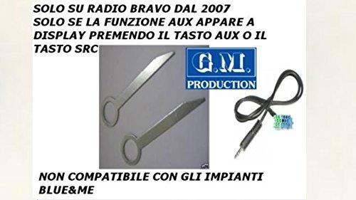 G.M. Production 191BV e Chiavi set Cavo AUX IN Mp3 SOLO AUDIO con autoradio VISTEON dal 2007 (solo radio di serie) [controllare foto e dettagli compatibilità]