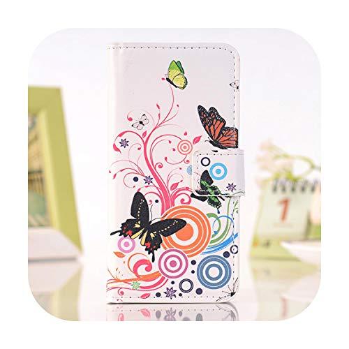Cover per Microsoft Nokia Lumia N 950650925520 X 535930640540635 950X Custodia in Pelle PU Portafoglio Farfalla Peint-Butterfly White-N635 630