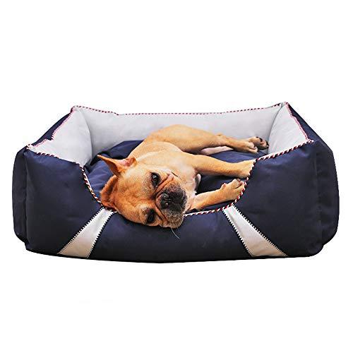LYHY Bequemes Haustierbett Hundebett Rechteckiges Haustierbett Große Hunde, Hundebett Mittelgroße Hunde, Langlebiges Hundebett mit waschbarem, wasserdichtem und bissfestem Hundebett-S:60X50X23CM