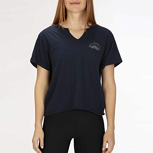Hurley W Adventure Club Crop Crew Tee-Shirts Femme Obsidian FR: XS (Taille Fabricant: XS)