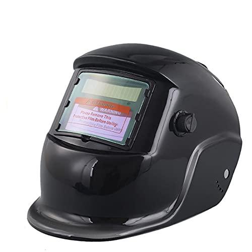 ONE-KJWH Casco De Soldadura con Oscurecimiento Automático, Máscara De Soldadura Ajustable, Batería Y Casco De Soldador Solar, Adecuado para Todas Las Soldaduras (Negro)