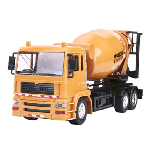 Lihgfw Drahtlose Fernbedienung Mixer 2.4G Fernbedienung Ladet Mobile Mixer Beton Zement LKW Boy Spielzeugautomaten Anti-Simulation Modell 1:24 29cm (Color : Yellow)