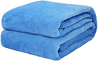 Flannel Fleece Blanket Throw Azure Home Blanket,Fluffy Blanket Warm Bed Throws for Sofa and Pet,Exquisite Comfortable...