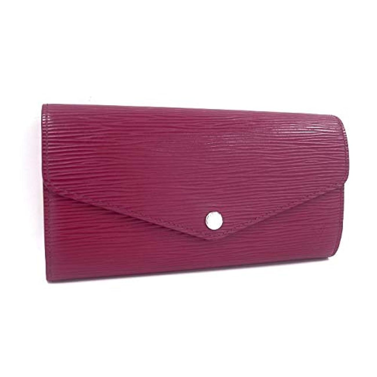 チップ着飾る製品【中古】ルイヴィトン 二つ折り長財布 ポルトフォイユ サラ エピ フューシャ M60580