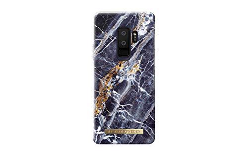 iDeal Of Sweden Handyhülle für Galaxy S9 Plus Mikrofaser-Innenfutter, Qi Wireless Charger kompatibel (Midnight Blue Marble)
