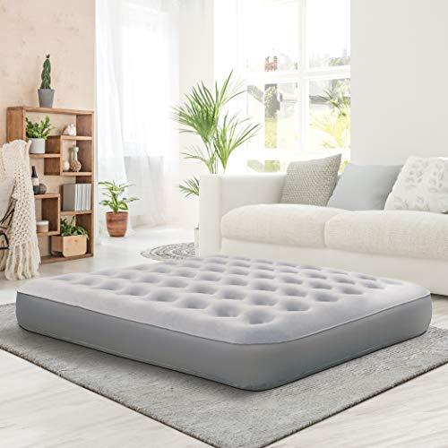 "Nautica Home Air Mattress, 10"" Sleep Express Air Bed Mattress with External Pump, Deluxe Comfort Flocked Top Airbed Series, Heavy Duty Vinyl Bed (Full)"