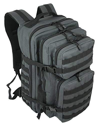 Normani - Mochila de exterior, multifunción, militar, robusta (50 L), color gris, tamaño xx-large, volumen 50liters