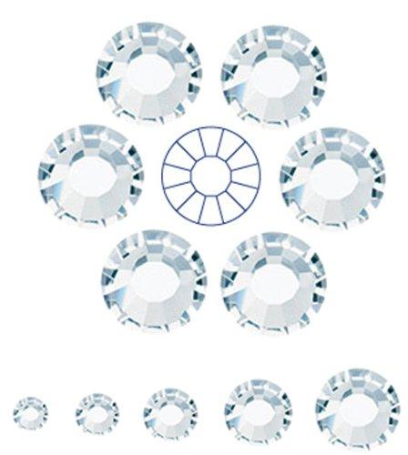 1440pcs ss16 (4mm) Clear Crystal, Preciosa MC Chaton Roses VIVA12 (Czech No HotFix Viva Rhinestones)