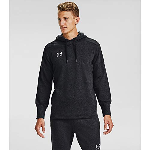 Under Armour Accelerate Off-Pitch Hoodie, Black (001)/Halo Gray, Small