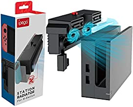 IPEGA PG-9155 Radiator Base with Cooling Fan for Nintendo Switch, Cooler for Nintendo Switch Docking Station, USB Heat Exhaust Ventilation for Nintendo Switch with Dual Fans Dustproof Back Cover
