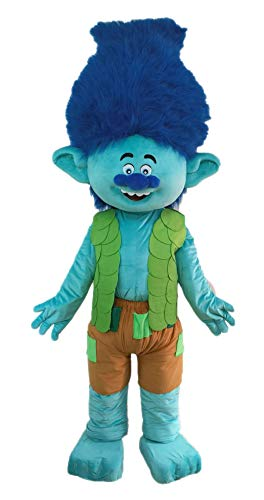 Cute Troll Costume Branch Suit Adult Fancy Dress Plush Mascot Outfit Full Body