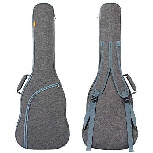 CAHAYA - Funda para guitarra eléctrica, tamaño 3/4, 9 mm, acolchada, resistente al agua, doble correa ajustable para el hombro