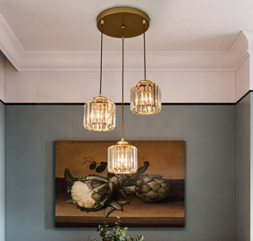 Canting Lamp, Os 60cm. Crystal Lamp Pendant Table Lamp Hanging Adjustable 3-Flame Crystal Pendant Metal Decorative Chandelier Pendant Lamp Hanging Lamp