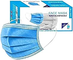 DesiDiya® 3-Ply Meltblown Disposable Surgical face Mask with nosepin (Pack of 50)"