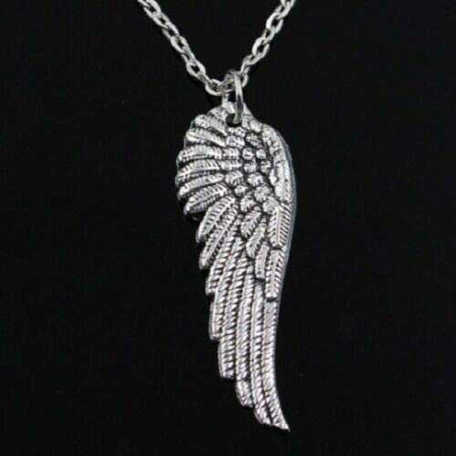 Сharm - 925 Sterling Silver Eagle Hawk Falcon Angel Wings Necklace (Pendant + Chain)-Original Design - Fashion Jewelry - Ideal Gift for Birthday Valentine Christmas