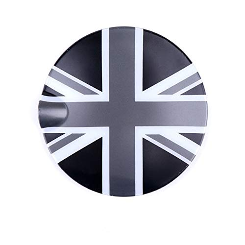 YEXIANG 1pc Gas Tankdeckel ABS Plastik Protected Union Jack Design Tankabdeckungen/fit for Mini Cooper S F55 F56 Car Styling Zubehör (Color : Gray Black UK)