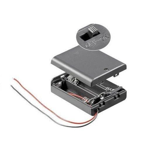 Portapilas LR6 AA con Interruptor (3 Pilas)