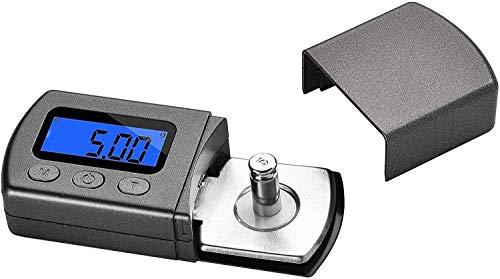 Hochpräzises digitales Mini-Plattenspieler-Stylus-Force-Scale-Messgerät 0,01 g / 5,00 g Blaue LCD-Hintergrundbeleuchtung für Tonarm-Tonabnehmer