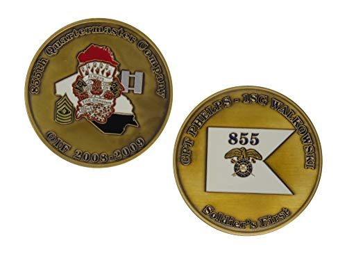 US Army 855th Quartermaster Company OIF 2008-2009 Challenge Coin