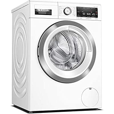 Bosch WAX32MH9GB Serie 8 Freestanding Washing Machine, with Home Connect, 4D Wash System, SpeedPerfect & AntiStain, 9kg load, 1600rpm spin - White