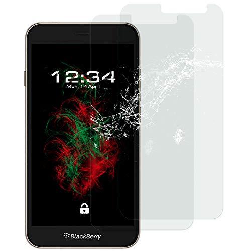 Baluum 2X Panzerglas für Blackberry Aurora Klare Bildschirmschutzfolie Panzerglasfolie 9H Echt Glas-Folie Clear Tempered Glass Screen Protector Glas Durchsichtige Schutzfolie (Glasfolie-Klar 2X)
