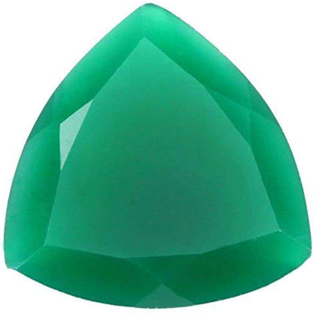 Ratnagarbha Green Denver Mall Onyx Cut Trillion Ston Ranking TOP9 gem Faceted Shape Loose