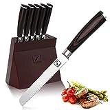 Steakmesser, imarku Steakmesser Set, Deutsches Edelstahl Wellenschliff Steakmesser Hobelmesser für...