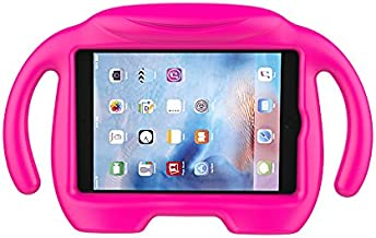 LEDNICEKER Kids Case for iPad Mini 1 2 3 4 5 - Light Weight Shock Proof Handle Stand Kids Friendly for iPad Mini, Mini 5 (2019), Mini 4, Mini 3rd Generation, Mini 2 Tablet - Magenta/Rose