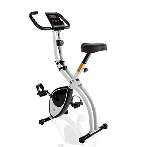 ISE X-Bike Fitnessbike für Zuhause Heimtrainer verstellbare Magnetron-Widerstandsstufen mit Handpulssensoren