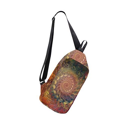 EZIOLY Spiral Shoulder Backpack Sling Chest Crossbody Bag Travel Hiking Daypack for Men Women