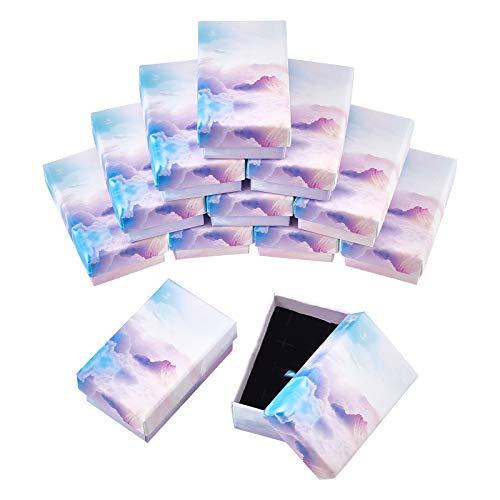 SUPERFINDINGS 20個 ギフトボックス スカイ 雲 ラッピングボックスセット 紙ボックス アクセサリーケース プレゼント ジュエリー収納 包装 ラッピング 小箱 紙箱 ブレスレット用 贈り物 カラフル ?方形
