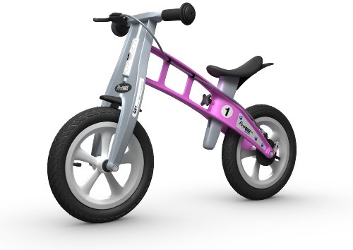 FirstBIKE Street Balance Bike with Brake, Pink - for Kids & Toddlers Ages 2,3,4,5
