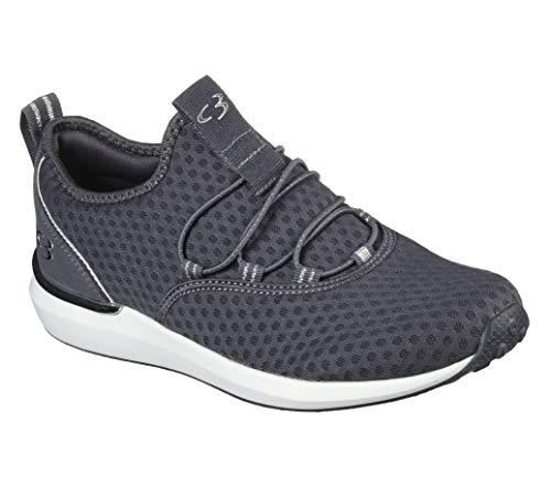 Concept 3 by Skechers Women's Alexxi Fashion Slip-on Sneaker, Charcoal Grey, 8.5 Medium US