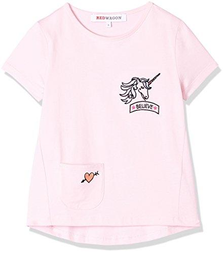 RED WAGON Camiseta Estampada para Niña, Rosa, 4 años
