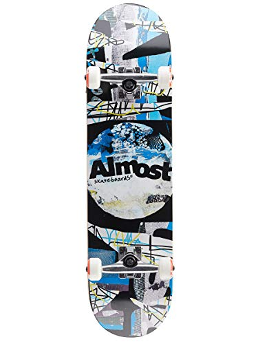 Almost Distressed FP Complete Skateboard Deck 8 inch Black