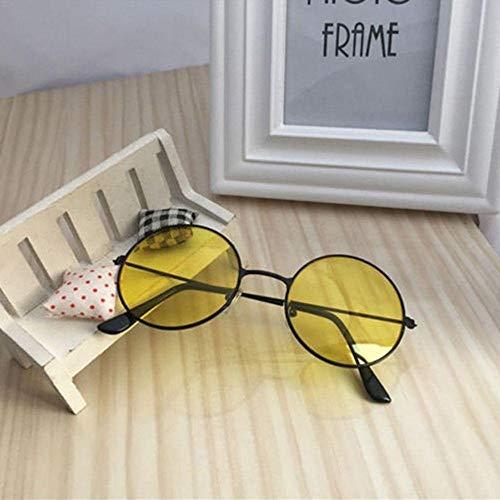 WQZYY&ASDCD Gafas de Sol Gafas De Sol De Plástico Redondas Retro De Moda para Mujer, Gafas De Sol con Montura De Gafas, Gafas De Conductor con Montura Femenina-_1