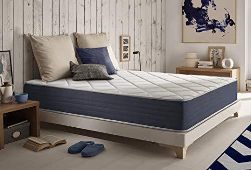 Naturalex | Supervisco | Matratze 180x200 cm | HR-Technologie Extra Komfort Memory Foam Exzellente H5-Unterstützung | Blue Latex Multischicht 7 Zonen | Ergonomisch Anti-Stress Besonders Entspannend